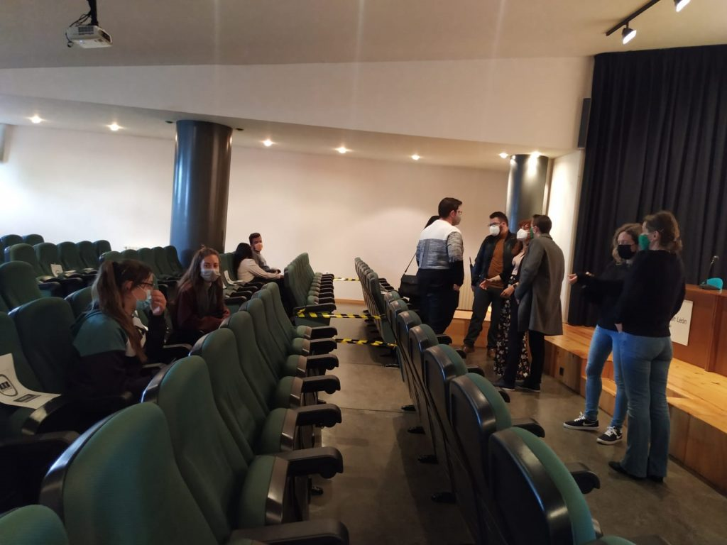 La Junta de Estudiantes de la Universidad de León se reúne en el Campus de Ponferrada.