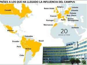 La influencia internacional del Campus de Ponferrada se extiende a 20 países