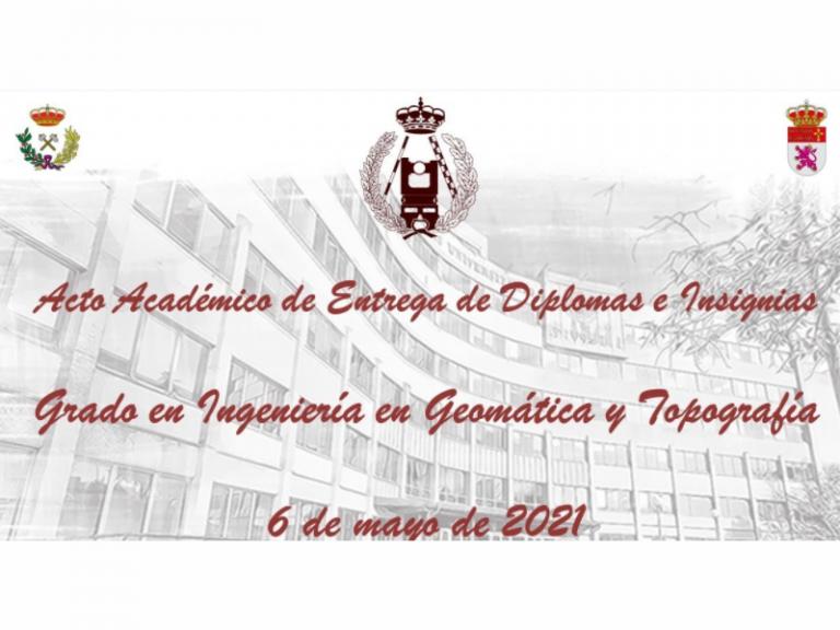 acto académico del Grado en Ingeniería en Geomática y Topografía del Campus de Ponferrada